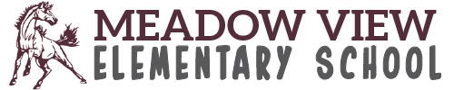 Meadow View Elementary School logo centered